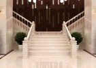 cream marfil marble stairs